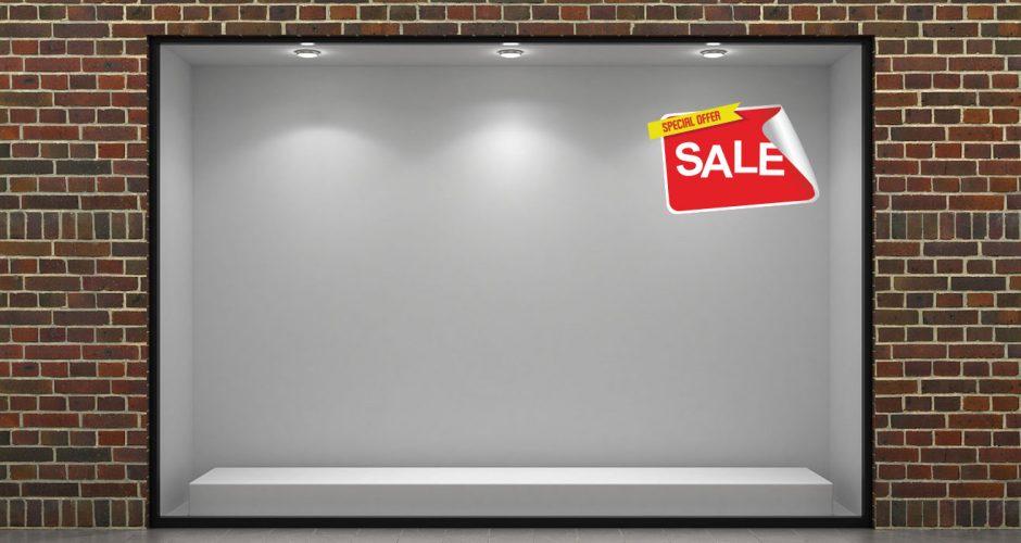 Αυτοκόλλητα καταστημάτων - Special offer sale