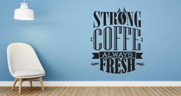 Αυτοκόλλητα καταστημάτων - Strong coffee