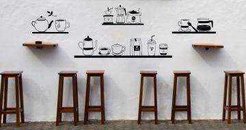 Αυτοκόλλητα καταστημάτων - Vintage Coffee