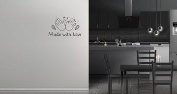 Αυτοκόλλητα Τοίχου - Αυτοκόλλητο φτιαγμένα με αγάπη