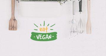 """Αυτοκόλλητα Τοίχου - Αυτοκόλλητο """"eat vegan"""" για χορτοφάγους"""