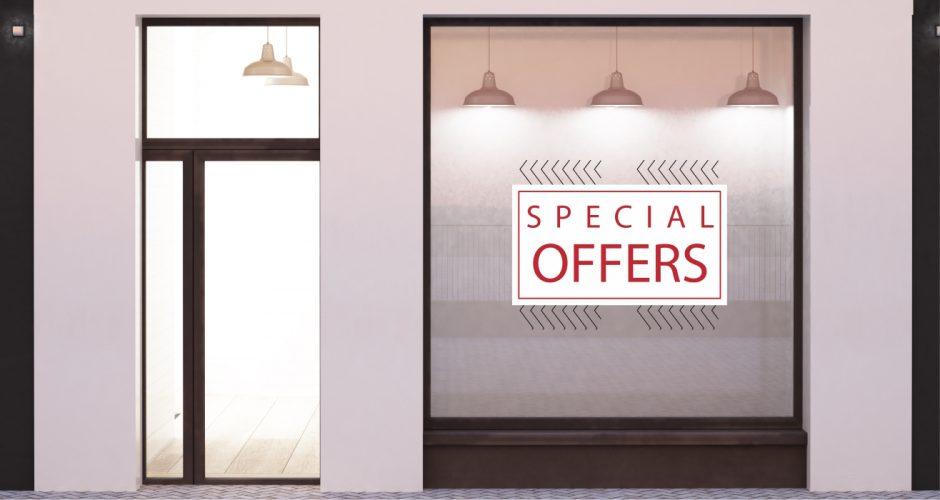 Αυτοκόλλητα καταστημάτων - Minimal offers