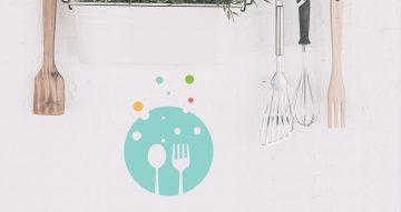 Αυτοκόλλητα Τοίχου - Κουτάλι/πιρούνι σε μοντέρνα χρώματα
