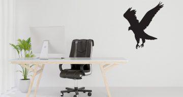 Αυτοκόλλητα Τοίχου - Αετός πετάει με ανοιχτά φτερά