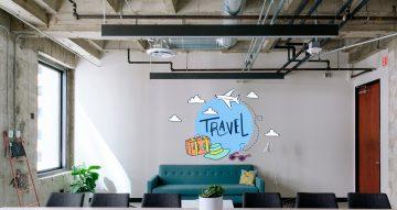 Αυτοκόλλητα καταστημάτων - Travel σε κύκλο