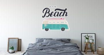 Αυτοκόλλητα Τοίχου - Go to the beach