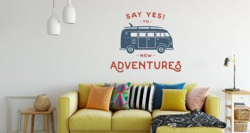 Αυτοκόλλητα Τοίχου - Say yes to new adventures
