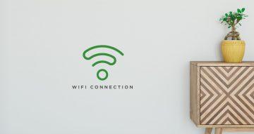 Αυτοκόλλητα καταστημάτων - Κομψό αυτοκόλλητο Wifi Zone