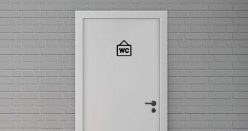 Αυτοκόλλητα καταστημάτων - Αυτοκόλλητα σήμανσης WC - Περιλαμβάνονται 5 αυτοκόλλητα