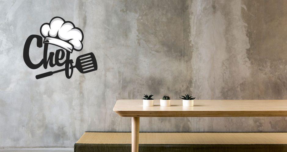 Αυτοκόλλητα καταστημάτων - Chef