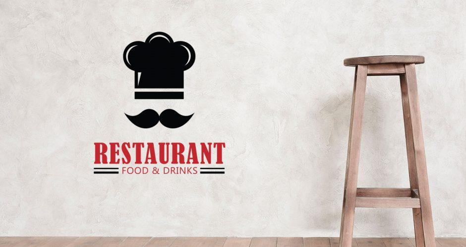 Αυτοκόλλητα καταστημάτων - Chef hat