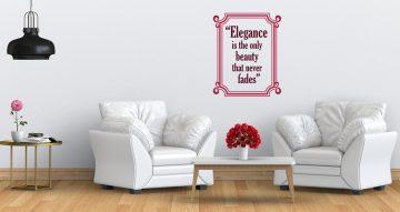 Αυτοκόλλητα καταστημάτων - Elegance quote