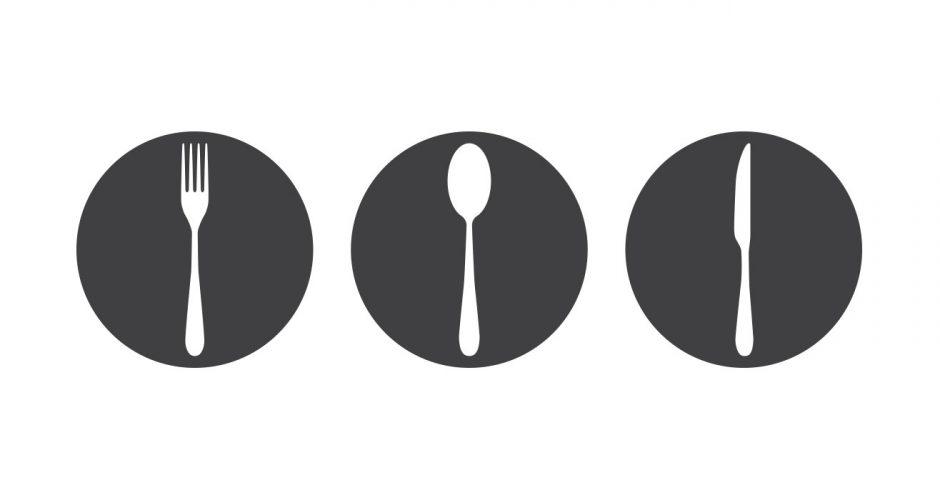 Αυτοκόλλητα καταστημάτων - Fork spoon knife