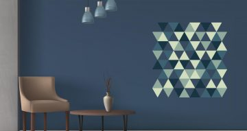 Αυτοκόλλητα Τοίχου - Geometric triangle pattern