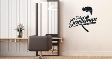 Αυτοκόλλητα καταστημάτων - Gentleman barbershop