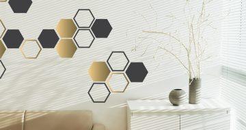 Αυτοκόλλητα Τοίχου - Honeycomb gold