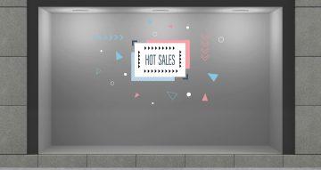 Αυτοκόλλητα καταστημάτων - HOT SALES