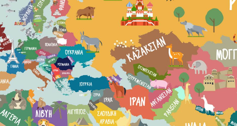 Selected products - Παγκόσμιος χάρτης στα Ελληνικά