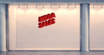 Αυτοκόλλητα καταστημάτων - MEGA SALES