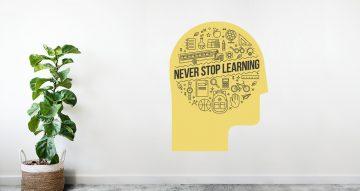 Αυτοκόλλητα καταστημάτων - Never stop learning