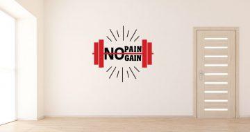 Αυτοκόλλητα καταστημάτων - No pain – No gain