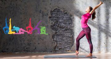 Αυτοκόλλητα καταστημάτων - Rainbow yoga