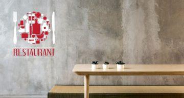 Αυτοκόλλητα καταστημάτων - Restaurant plate