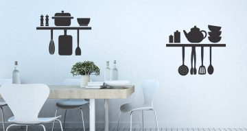 Αυτοκόλλητα καταστημάτων - Restaurant shelf