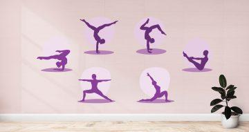 Αυτοκόλλητα καταστημάτων - Yoga Poses - Περιλαμβάνονται 6 αυτοκόλλητα