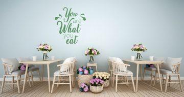 Αυτοκόλλητα καταστημάτων - You are what you eat