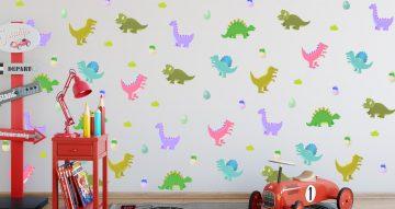 Selected products - Καρτουνίστικοι δεινόσαυροι με θαμνάκια και αυγά δεινοσαύρων