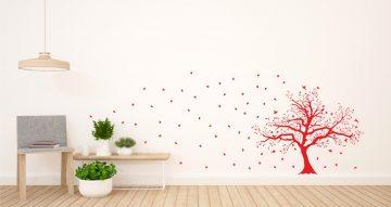 Αυτοκόλλητα Τοίχου - Δέντρο με πουλάκια