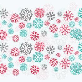 Χρωματιστές χιονονιφάδες