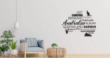 Αυτοκόλλητα Τοίχου - Australia map