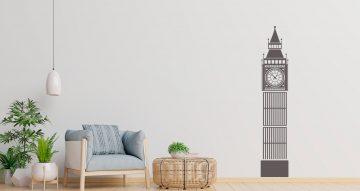 Αυτοκόλλητα Τοίχου - Big ben silhouette