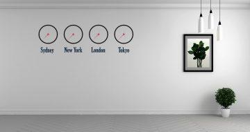 Αυτοκόλλητα Τοίχου - Cities time zon