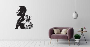 Αυτοκόλλητα Τοίχου - Flower lady