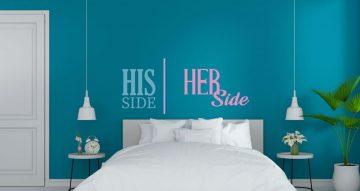Αυτοκόλλητα Τοίχου - His side/her side