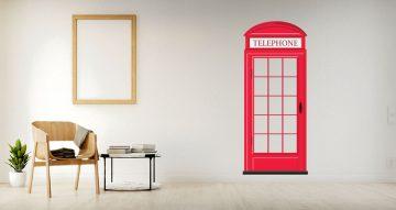 Αυτοκόλλητα Τοίχου - London phone booth