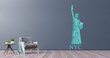 Αυτοκόλλητα Τοίχου - Statue of liberty