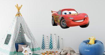 Αυτοκόλλητα Τοίχου - Κόκκινο αγωνιστικό αυτοκινητάκι