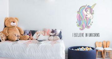 Αυτοκόλλητα Τοίχου - I Believe in Unicorns