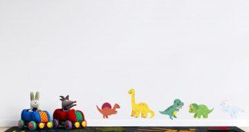 Αυτοκόλλητα Τοίχου - Σετ από καρτουνίστικους δεινόσαυρους