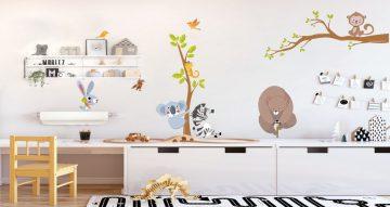 Αυτοκόλλητα Τοίχου - Διάφορα χαριτωμενα ζωάκια και δεντράκια