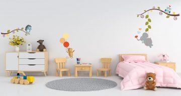 Αυτοκόλλητα Τοίχου - Αυτοκόλλητο τοίχου με χαρούμενα ζωάκια σε καρτουνίστικο στυλ