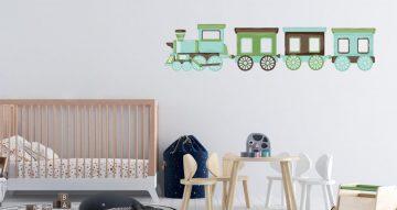 Αυτοκόλλητα Τοίχου - Αυτοκόλλητο τοίχου - Hand draw train