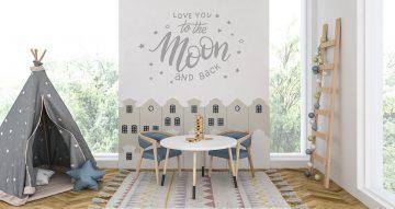 Αυτοκόλλητα Τοίχου - Love you to the moon and back