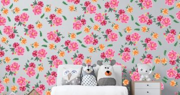 Floral - Λουλούδια και φύλλα σε όμορφα χρώματα