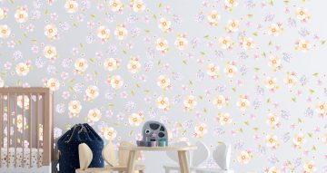 Floral - Σύνθεση από διάφορα λουλούδια και φύλλα σε παστέλ χρώματα