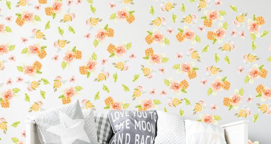 Floral - Διάφορα λουλούδια σε πολύ όμορφους παστέλ χρωματισμούς